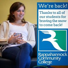 Thanks to all of our RCC students who are braving the snow (and slush) to come back to classes! We missed you! #rccspring #rcc #rappahannock #community #college #comm_college #instacollege #winter #student #studentlife #nnk #northernneck #northernneckva #middlepeninsula #va #virginia