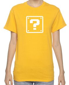 Super Mario Bros Question Mark Box Shirt (SM-XL). $14.95, via Etsy.