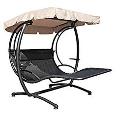 Ultimate relaxing seating option in your garden with a canopy swing seat. From steel tubular contruction, authentic antique designs to the tradition wooden frame varieties. Garden Swing Seat, Garden Canopy, Porch Swing, Hammock Chair, Hammock Stand, Swinging Chair, Double Papasan Chair, Outside Swing, Canopy Swing