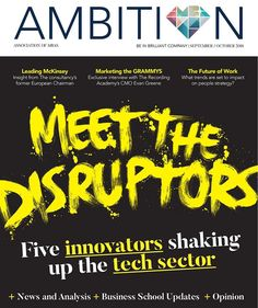 "Meet the disruptors lettering by Ben Tallon Illustration (@ben_tallon) on Instagram: ""My front cover for Ambition magazine. art direction by Sam Price"