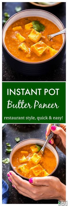 Easy Instant Pot Butter Paneer! Make restaurant style butter paneer at home in no time using your Instant Pot and enjoy with naan or rice! Find the recipe on www.cookwithmanali.com