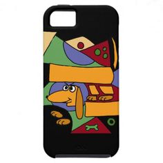 Funny Dachshund Abstract Art iPhone 5 Case #dachshunds #dogs #funny #iphone5 #case #art #zazzle #petspower