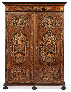 """~ Wardrobe """"The Crown Comtales"""" Attr. to Thomas Hache (1664-1747) ~ invaluable.com/auction"""