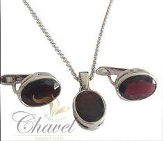 Juego de plata de ley con mineral granate Pendant Necklace, Jewelry, Garnet, Sterling Silver, Minerals, Games, Jewlery, Bijoux, Jewerly