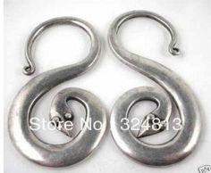 FREE SHIPPING Handmade miao silver Snake earring #2009