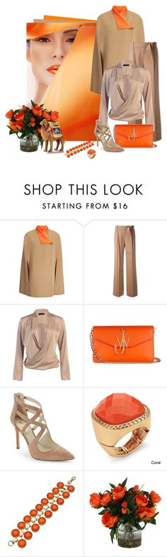 """""""Tangerine & Camel"""" by elli-argyropoulou ❤ liked on Polyvore featuring Joseph, MaxMara, J.W. Anderson, BCBGeneration, Palm Beach Jewelry, Danielle Stevens, Giftcraft, tangerine, camel and capecoat"""