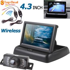4.3 Inch Car Rear View Monitor + Waterproof 7 IR Lights Backup Night Vision Camera