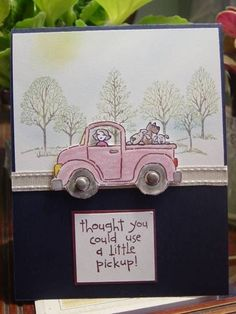 thought you could use a Little pickup!  Pick me up by Redbugdriver - Cards and Paper Crafts at Splitcoaststampers