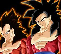 Goku ssj4 y Vegeta ssj4