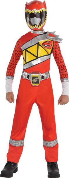 Boys Red Ranger Jumpsuit Costume - Power Rangers Dino Charge - Party City