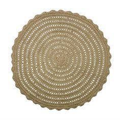 Mooi rond vloerkleed van Bepurehome. Het kleed is gemaakt van jute en heeft open stukken, wat een speels patroon aan het Corn vloerkleed geeft.