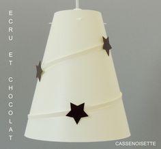 Lustre chambre bébé : Ecru étoilé chocolat Pour s'inspirer