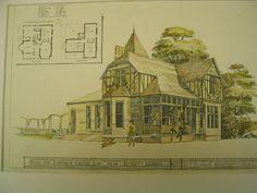 House for J. Seymour Castle, Esq. , Quincy, IL, 1876, J. E. Hosford