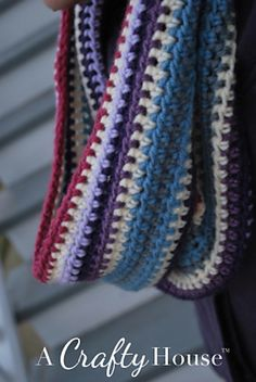 Ravelry: Scrap Yarn Crochet Cowl pattern by A Crafty House