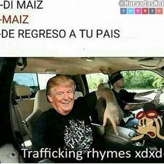 Donald Trump Traficando Rimas XD Para más imágenes graciosas visita: https://www.Huevadas.net #meme #humor #chistes #viral #amor #huevadasnet