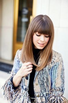 Terrific 8 Easy Steps for Straight Hairstyles with Bangs: Read More on SMP: www.stylemepretty… The post 8 Easy Steps for Straight Hairstyles with Bangs: Read More on SMP: www.stylemepr… appeared first on Cool Fashion Hair . Medium Length Hair Straight, Bangs With Medium Hair, Straight Bangs, Straight Ponytail, Medium Hair Styles, Curly Hair Styles, Long Bob With Bangs, Hairstyles With Bangs, Pretty Hairstyles