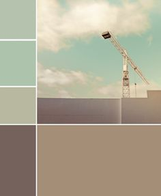 Colour scheme for pale blue/greens and warm greys