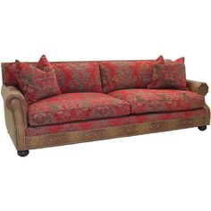 Old Hickory Tannery Brown Leather Sofa By Hayes 5 890 Liked On Polyvore Featuring