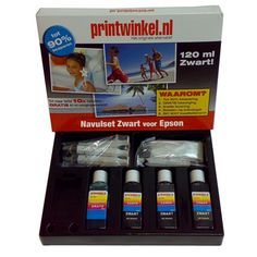 Met de EPSON Navulset Zwart kunt u met gemak uw cartridges 8 tot 10x navullen! De inkt is onder de strengste normen geproduceerd en heeft een ISO 9001 certificaat.