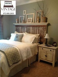 vintage headboards promotional video, bedroom ideas, painted furniture, repurposing upcycling, woodworking projects