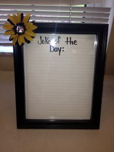 Joke of the Day frame- can't forget to laugh!  Mrs. Blas' Class Blog: Class Tour 2012