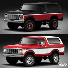 We want YOUR help designing our 1979 Ford Bronco build! Let's start with paint…should we go with red or black? We will tally up the votes Saturday and send the winning choice into the paint booth! Stay tuned to see the winning rendering come to life! 4x4 Ford, 1978 Ford Bronco, Bronco Truck, Classic Ford Trucks, Ford Pickup Trucks, Chevrolet Trucks, 1957 Chevrolet, Chevrolet Impala, F100