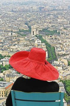 Red hat over Paris
