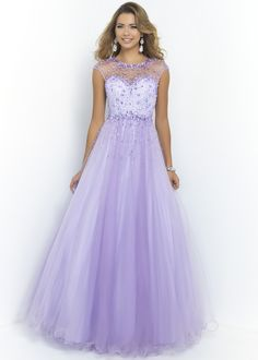 Blush 5409 Sparkly Ball Gown