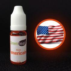 flacon e-liquide goût  Américain Green-Leaf