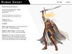 DnD-Next-Monster Cards-Human Knight by dizman