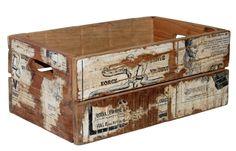 Vintage låda med tidningspapper i gruppen Alla Produkter hos Reforma Sthlm…