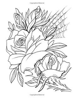 Creative Haven Floral Tattoo Designs Coloring Book (Creative Haven Coloring Books): Erik Siuda, Creative Haven: 9780486496290: Amazon.com: Books