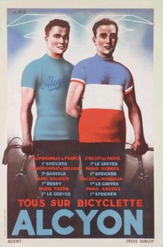 Alcyon cycles Vintage Cycles, Cycling Art, Advertising Poster, Paris, Baseball Cards, Classic, Om, Movie Posters, Illustrations