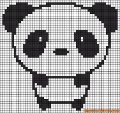 Cute panda perler bead pattern