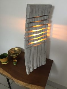 Fragmented wood log lamp , driftwood effect #23.