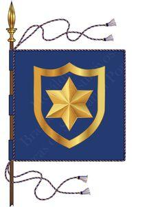 Heráldica - Brasões e Distintivos das Forças de Segurança Portuguesas: Bandeira Heráldica da Polícia de Segurança Pública...