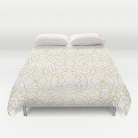 Duvet Cover featuring Gold Lace by Elisabeth Fredriksson