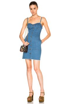 Image 1 of NICHOLAS Button Up Dress in Blue