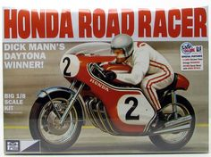 MPC Dick Mann Honda 750 Road Racer Motorcycle Plastic Model Kit NEW Please ask any questions before purchase. Thanks for looking! Motorcycle Model Kits, Red Motorcycle, Honda 750, Honda Bikes, Plastic Model Kits, Plastic Models, Daytona, Revell Monogram, Winner