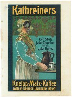Original Kathreiners Kneipp Malzkaffee, Werbung der Zeit Kalenderauslösung. •…