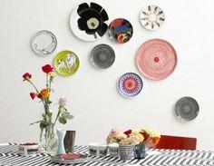 Decorando sua cozinha e reciclando seus pratos