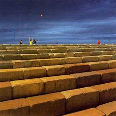 86 Modernist Realistic Paintings By American Artist Jeffrey Smart