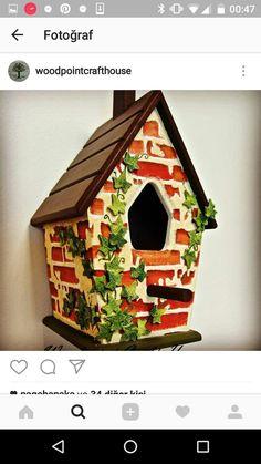 Decorative Bird Houses, Bird Houses Painted, Bird Houses Diy, Fairy Houses, Painted Birdhouses, Birdhouse Craft, Birdhouse Designs, House Painting, Diy Painting