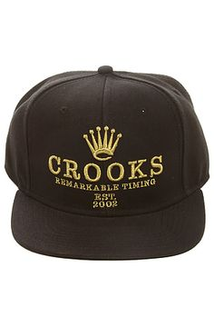 bdc4303c0a1 Crooks and Castles x The Remarkable Snapback Hat in Black