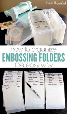 This simple system is the best way to store & organize your embossing…