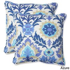 Pillow Perfect Santa Maria 18.5-inch Outdoor Throw Pillows (Set of 2) - Overstock™ Shopping - Big Discounts on Pillow Perfect Outdoor Cushions & Pillows