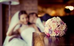 Wedding day. Great pic of the bouquet