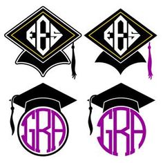 Graduation Cap Monogram Frames Cuttable Design Cut File. Vector, Clipart, Digital Scrapbooking Download, Available in JPEG, PDF, EPS, DXF and SVG. Works with Cricut, Design Space, Sure Cuts A Lot, Make the Cut!, Inkscape, CorelDraw, Adobe Illustrator, Silhouette Cameo, Brother ScanNCut and other compatible software.