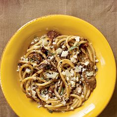 Bucatini with Mushrooms | CookingLight.com