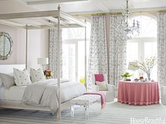 "The master bedroom is ""soft, subtle, and refined,"" Watson says."